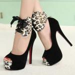 LEOPARD PRINTS PEEP TOE HEELS [221]
