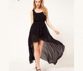FRONT SHORT BACK LONG DRESS 3 COLORS 25