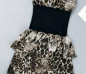 QUEEN OF THE NIGHTCLUBS LEOPARD SEXY DRESS 48