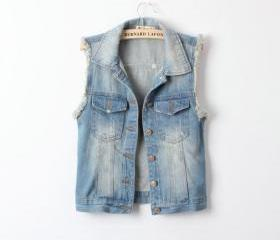 RETRO FASHION ALL-MATCH DENIM VEST 50