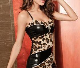 LEOPARD PRINT SEXY TIGHT DRESS 68