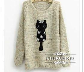 SUPER CUTE BLACK CATE JUMPER 76