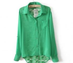 BACK CUTOUT POCKET SHIRT 80