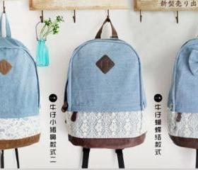 PIG NOSE AND BOW TIE DENIM BAG 83