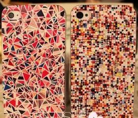 MOSAIC GEOMETRIC PATTERNS PAINTED IPHONE4/4S/5 CASE 85