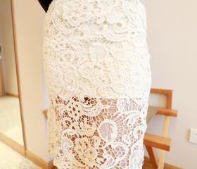 LACE DRESS WITH CROCHET EDEGE 108