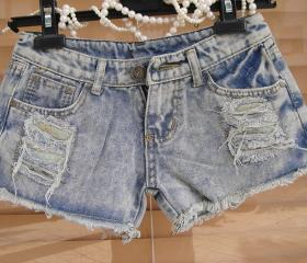 SHREDDED TORN HEAVILY WORN SUPER SHORT SHORTS 112
