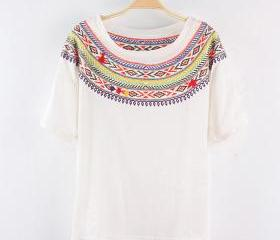 JAPANESE SUMMER BOHEMIA EMBROIDERY SHORT SLEEVE 131