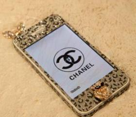 GLITTER LEOPARD BODY FILM IPHONE4/4S STICKER 145