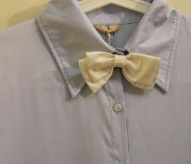 REMOVABLE BOW TIE COLLAR LONG SLEEVES SHIRT 150