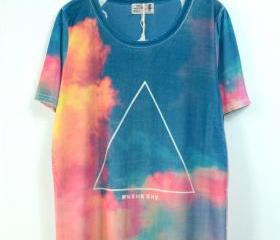 GALAXY AND TRIANGLE TEE 155
