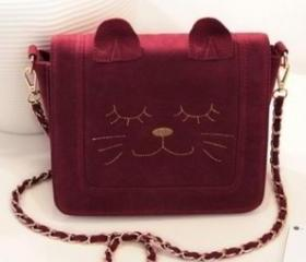 CUTE SWEET CAT SHAPED CHAIN BAG [173]