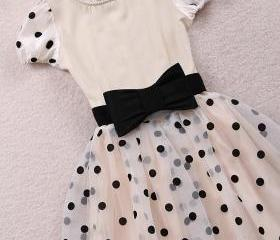 PRINCESS HEIRESS BUBBLE DRESSES, HIGH WAIST DRESS WITH SHORT SLEEVES [207]