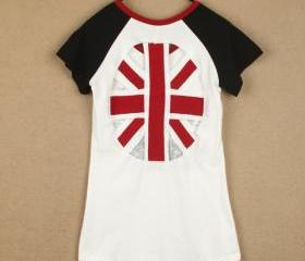 CUTE OUT BACK UK FLAG TSHIRT [211]