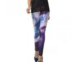 BLAZING SKY GALAXY LEGGINGS PANTS BLUE [214]