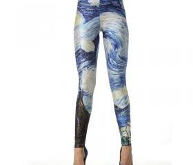 VAN GOGH MASTER PIECE THE STARRY NIGHT LEGGINGS [216]
